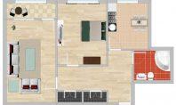 Apartament 2 camere, Zimbru, 55mp