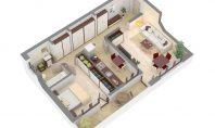 Apartament 2 camere, CUG, 53mp