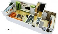 Apartament 1 camera, Lac 2 Residence, CUG