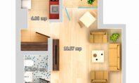 Apartament 1 camera, Galata-LIDL, 31mp