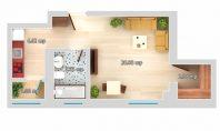 Apartament 1 camera, Galata-LIDL, 33mp