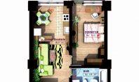 Apartament 2 camere, Copou, 41,30 mp