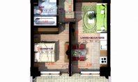 Apartament 2 camere, Copou, 46,40 mp