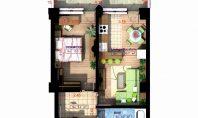 Apartament 2 camere, Copou, 50,80 mp