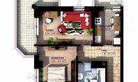 Apartament 2 camere, Copou, 62,00 mp