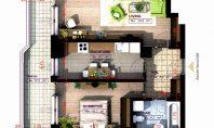 Apartament 2 camere, Copou, 65,00 mp
