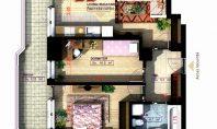 Apartament 3 camere, Copou, 65,00 mp