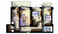 Apartament 3 camere, Copou, 84,50 mp
