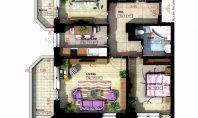 Apartament 3 camere, Copou, 87,90 mp