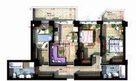 Apartament 4 camere, Copou, 86,60 mp
