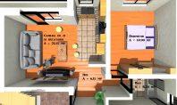 Apartament 2 camere, CetatuiaResidence, 50mp
