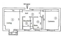 Apartament 2 camere, Pacurari, 42mp