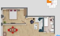 Apartament 2 camere, SunResidence, 47mp