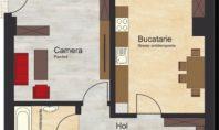 Apartament 1 camera, Copou, 40mp