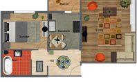 Apartament 2 camere, Podul de Fier, 48mp