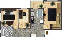 Apartament 3 camere, Metalurgie, 61mp