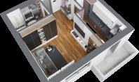 Apartament 1 camera, Frumoasa, 37mp