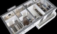 Apartament 3 camere, Poitiers, 78mp