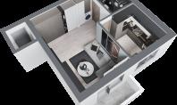 Apartament 1 camera, Frumoasa, 41mp