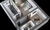 Apartament 2 camere, Poitiers, 61mp