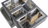 Apartament 2 camere, Poitiers, 60.5mp