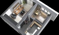 Apartament 1 camera, Poitiers, 45mp