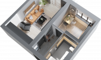 Apartament 1 camera, Frumoasa, 38.5mp