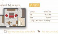 Apartament 1 camera, Rond Era, 36mp