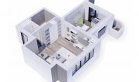 Apartament 1 camera, Bucium, 47mp
