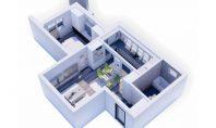 Apartament 2 camere, Bucium, 54mp